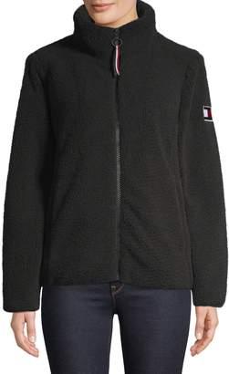 Tommy Hilfiger Stand-Collar Plush Jacket
