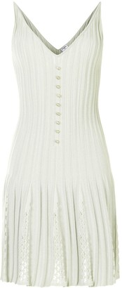 Chanel Pre Owned Knitted Pleated Dress