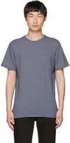 A.P.C. Navy Striped Pocket T-shirt