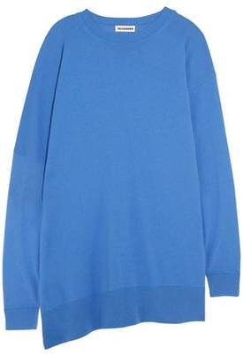 Jil Sander Asymmetric Ribbed-knit Wool And Cashmere-blend Sweater