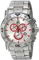 Jivago Men's 'Titan' Swiss Quartz Stainless Steel Casual Watch, Color:Silver-Toned (Model: JV9128XL)