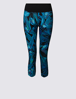 M&S Collection Tropical Print Cropped Leggings