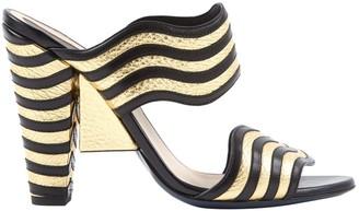 Fendi \N Gold Leather Heels