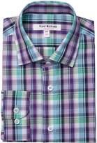 Isaac Mizrahi Plaid Print Button Down Shirt (Toddler, Little Boys, & Big Boys)