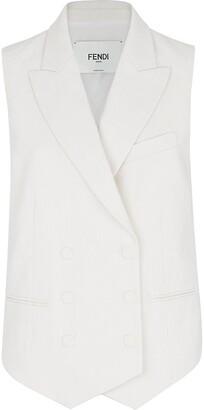 Fendi Double-Breasted Sleeveless Jacket