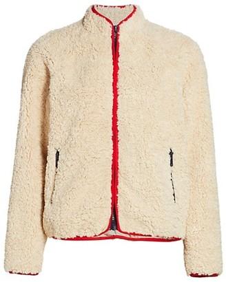 Mother Faux Fur Funnelneck Zip Jacket