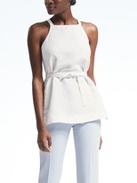 Banana Republic Linen Apron Wrap Top
