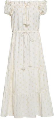Figue Off-the-shoulder Fil Coupe Cotton-blend Midi Dress