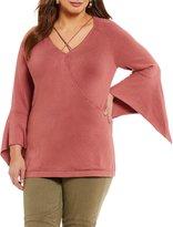 Gibson & Latimer Plus Bell Sleeve Sweater