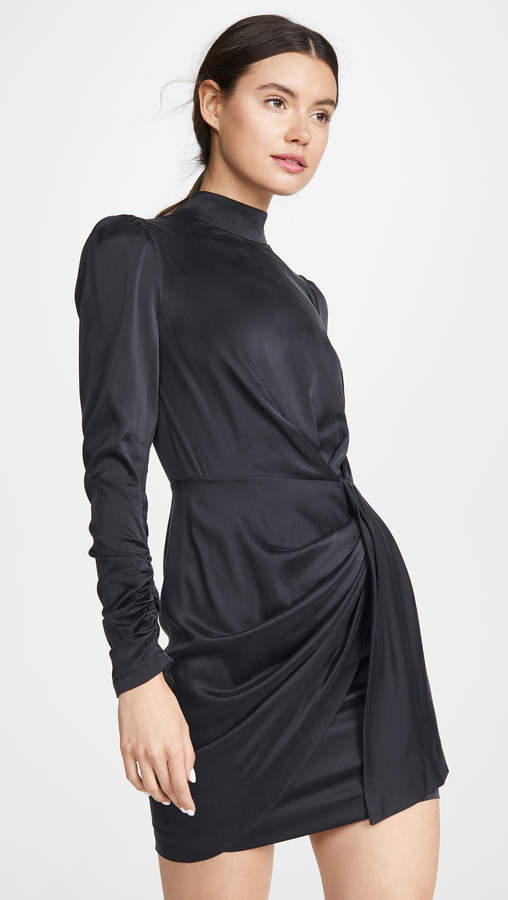 Zimmermann Espionage Silk Drape Dress