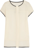By Malene Birger Carmencita stretch-knit bouclé and silk top