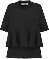 Marni Stretch-cotton and wool-blend peplum top