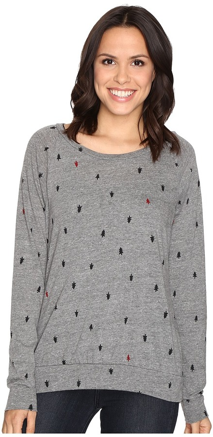 Alternative Printed Slouchy Pullover Women's Sweatshirt
