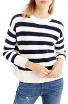 J.Crew Women's Textured Stripe Sweater