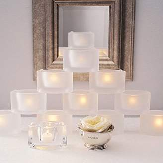 Design Ideas CatsEye Glass Tealight Candle Holder, Clear