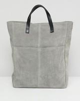 Asos Design DESIGN large SUEDE backpack with slip pocket