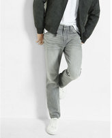 Express tapered leg classic fit gray jean