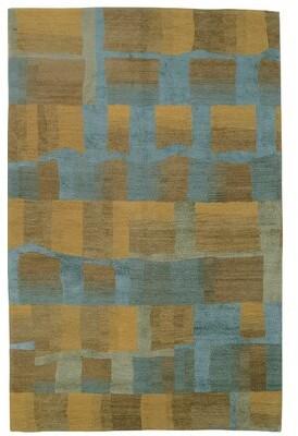 Tufenkian Eva H Wool/Silk Azure Area Rug Rug Size: Rectangle 10' x 14'