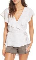 June & Hudson Women's Cape Sleeve Wrap Top
