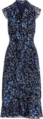 Ralph Lauren Print Georgette Dress