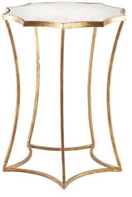 Aidan Gray Astre End Table Table Base Color: Antique Brass