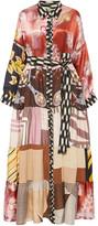 Rianna + Nina One of A Kind M'O Exclusive Printed Silk Shirt Dress