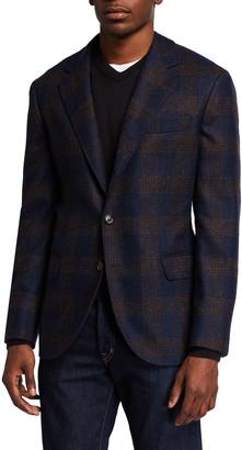 Brunello Cucinelli Men's Plaid Alpaca-Blend Sport Jacket