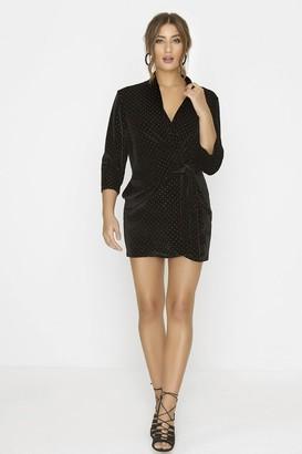 Linzi Outrageous Fortune Black Wrap Dress