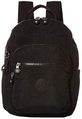 Kipling Seoul Small Backpack (Black Noir) Backpack Bags