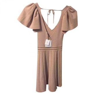 Sandro Spring Summer 2019 Pink Cotton - elasthane Dress for Women