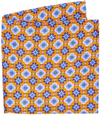 Saks Fifth Avenue COLLECTION Kaleidescope Print Silk Pocket Square