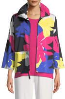 Caroline Rose Petal Pusher Printed Jacket, Plus Size