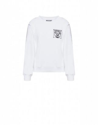 Moschino Teddy Label Cornely Sweatshirt Woman White Size 38 It - (4 Us)