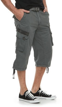 X-Ray Men's Messenger Belted Cargo Shorts