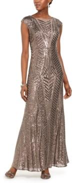 Night Way Nightway Allover-Sequin Gown
