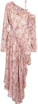 Preen by Thornton Bregazzi Erchart One-shoulder Ruffled Fil Coupé Silk-blend Dress - Blush