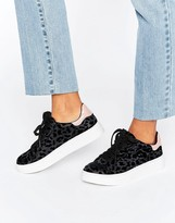 Blink Leopard Flock Sneakers
