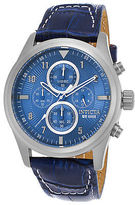 Invicta 22977 Men's Aviator Chronograph Blue Genuine Leather Light Blue Dial
