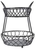 Mikasa Loop And Lattice Two Tiered Basket