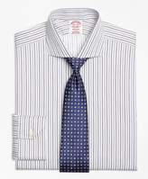 Brooks Brothers Non-Iron Madison Fit Alternating Triple Stripe Dress Shirt
