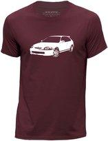 STUFF4 Men's Round Neck T-Shirt/Stencil Car Art / Civic EK9