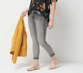 Laurie Felt Petite Silky Denim Colored Zip Fly Skinny Jeans