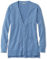 L.L. Bean Cotton/Modal V-Neck Cardigan, Long Sleeve