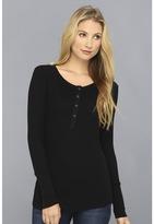 Splendid Thermal Henley Women's Long Sleeve Pullover