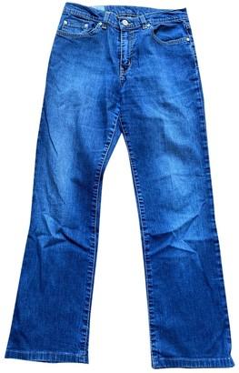Lacoste Blue Cotton Trousers for Women