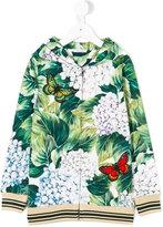 Dolce & Gabbana hydrangea-print hooded sweatshirt - kids - Cotton - 6 yrs