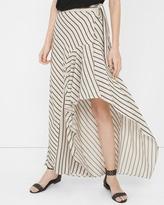 White House Black Market Stripe Wrap Maxi Skirt