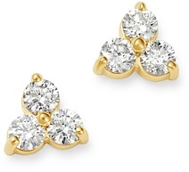 Bloomingdale's Diamond Three-Stone Stud Earrings in 14K Yellow Gold, 0.35 ct. t.w. - 100% Exclusive