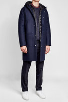 Moncler Virgin Wool Coat with Detachable Down-Filled Lining