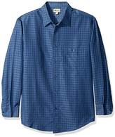 Haggar Men's Long Sleeve Sueded Effect Microfiber Woven Shirt